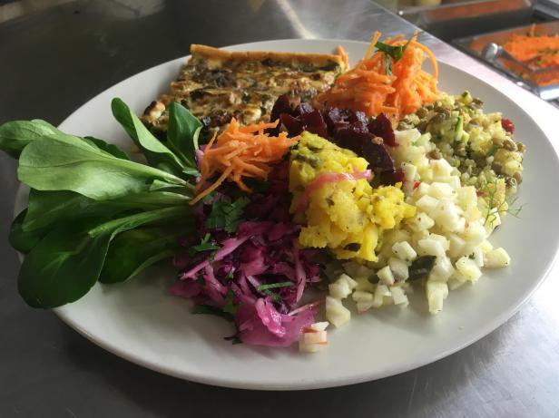 salade et quiche